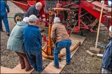 Massey Harris Combine - Engine Removal