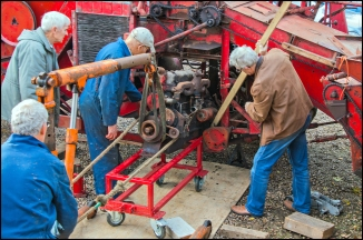 Massey Harris Combine - Engine Removal