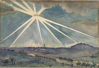 David_M_Carlile_-_Hun_Plane_Caught_in_Searchlights