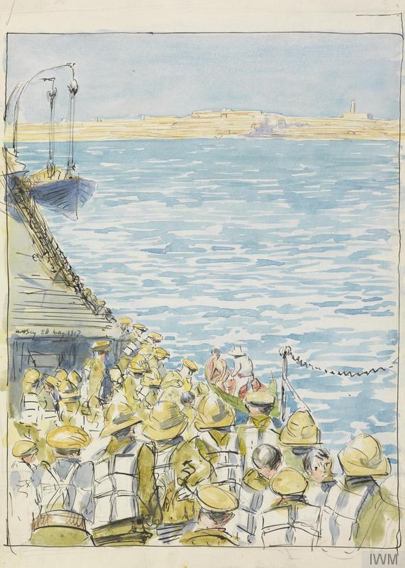 IWM Malta approach by troopship