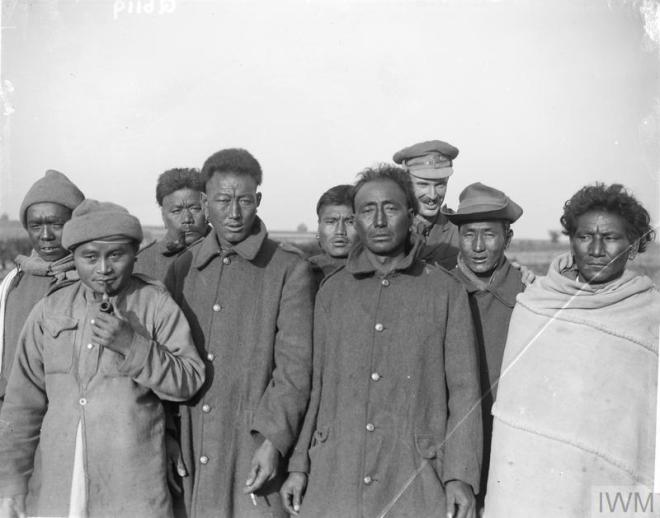 Men of the Manipur Labour Corps Oct 1917 in Arras IWM Q6119