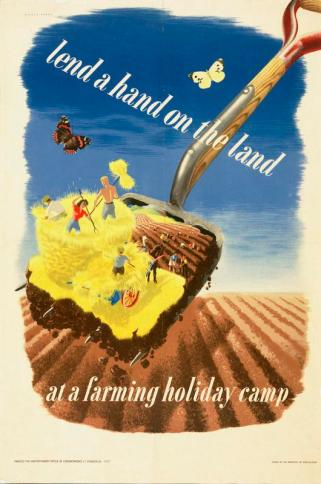 Lend_a_Hand_on_the_Land_at_a_Farming_Holiday_Camp_Art.IWMPST0143